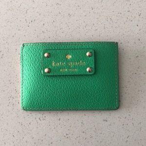 KATE SPADE || Kelly Green Credit Card Holder